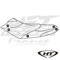 Housse de selle HT Premier Sea-Doo RX, RXX