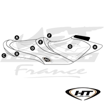 Housse de selle HT Premier Sea-Doo GTR 215 (12-16), GTI SE, GTI Ltd 155 (12-17)